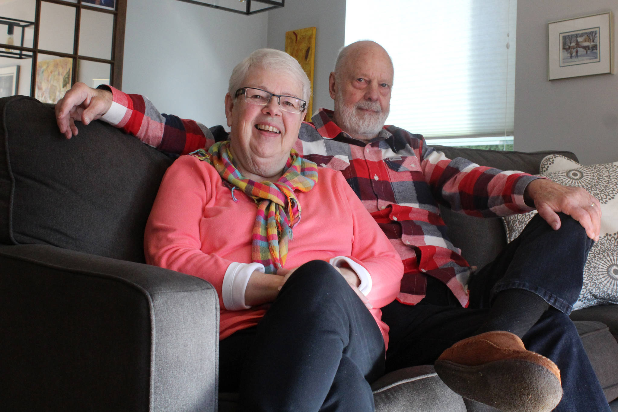 Courtenay couple Doris McLaughlin and her husband Don share their stories about their respective heart attacks - and the unique symptoms - in hopes to spread awareness during heart month in February. Photo by Erin Haluschak